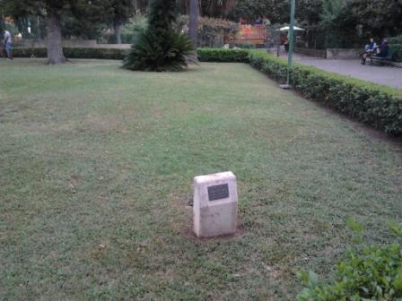 """le """"non"""" arbre de la liberté du bicentenaire de la révolution française à Palerme"""